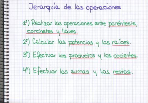 Orden de las Operaciones Matemáticas   - The Order of Mathematics Operations: Jerarquía de las Operaciones