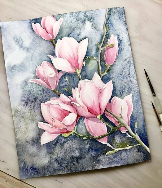 Aquarell Blumen Kunstmalerei Blumen Blumen Malen Blumen Malen Acryl