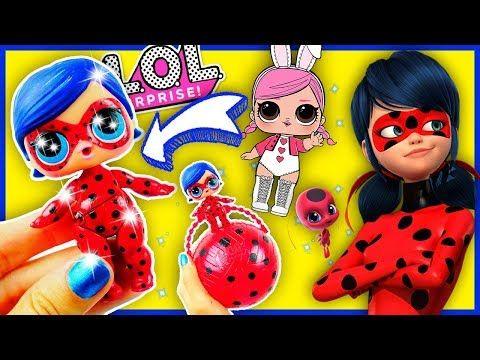 Diy Miraculous Ladybug Lol Surprise Custom Doll Lol Dolls Opening Toy Tutorial Series 2 Youtube Lol Dolls Lol Ladybug