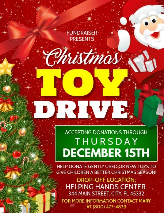 Christmas Flyer Christmas Toy Drive Christmas Toy Donations Toy Drive