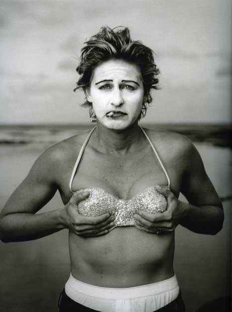 """Annie Leibovitz's """"Ellen Degeneres, Kauai, Hawaii,"""" 1997."""
