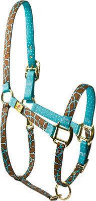 Red Haute Horse - Giraffe Teal High Fashion Horse Halter, $30.95 (http://www.redhautehorse.com/giraffe-teal-high-fashion-horse-halter/)