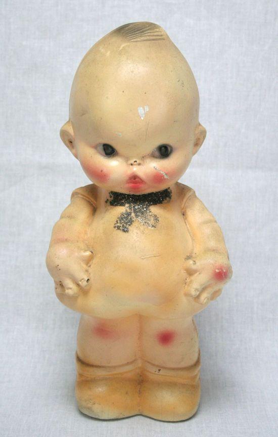 Vintage Pair Of Kewpie Doll Baby Powder Shaker Dispensers