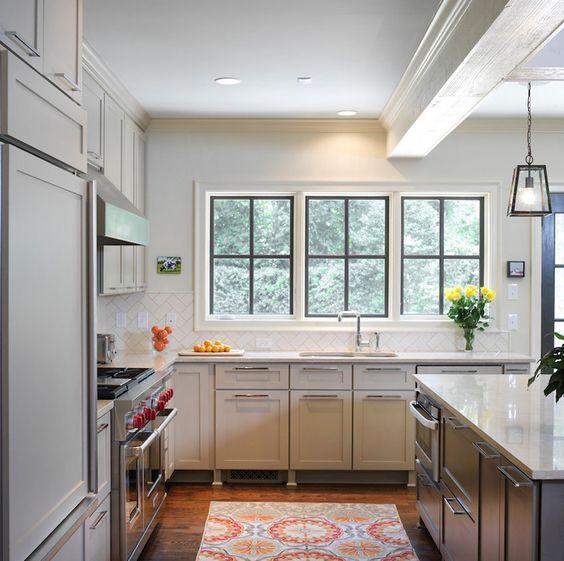 Dark Beige Kitchen Cabinets: Ben Moore Berkshire Beige Tan Perimeter Cabinets, Ben