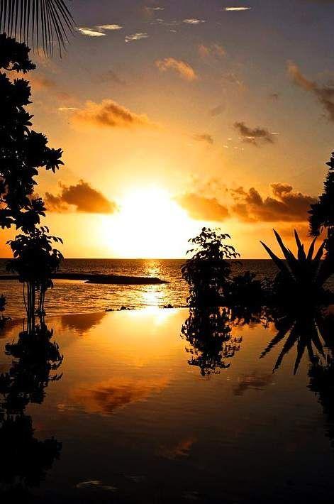 Coucher de soleil pris depuis Tikehau en Polynésie Française - GEO communauté photo