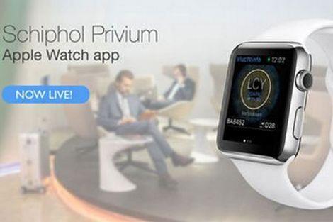 Schiphol test Apple Watch met reizigers. Mooi stukje meedenken. En eigenlijk een logische innovatie. Vluchtinfo heeft immers alles met tijd te maken.
