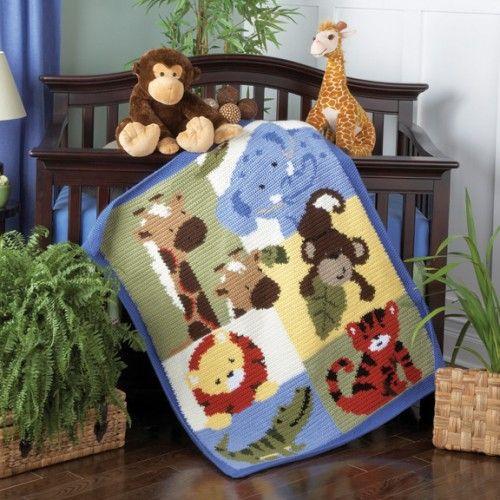 Jungles, Blankets and Blanket crochet on Pinterest