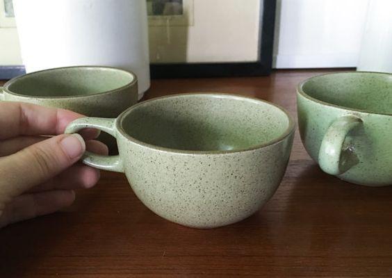 Rare set: Four Vintage Heath Cups Teacups by CaribeCasualShop