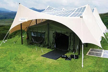 Solar-powered Tents !! the future is now !   http://inhabitat.com/u-s-military-developing-solar-powered-tents/