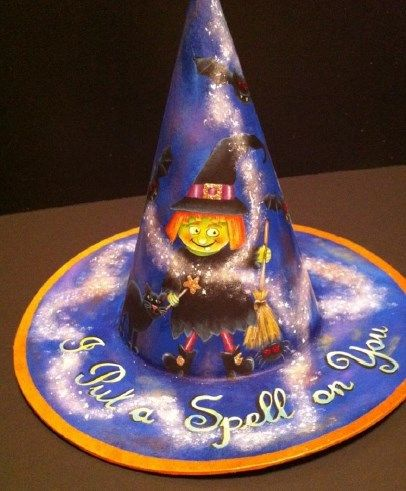 Cupboard Distributing - I put a Spell on You Witch Hat E-Pattern, $6.00 (http://www.cdwood.com/i-put-a-spell-on-you-witch-hat-e-pattern/)