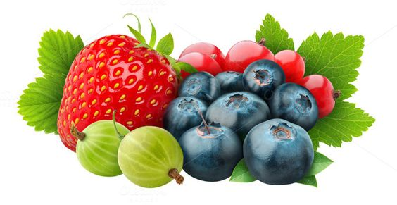 Check out Berries on transparent background by Fruits+Veggies on Creative Market