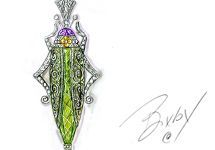 Barbara Bixby Sterling/18K Gemstone Grasshopper Enhancer — QVC.com