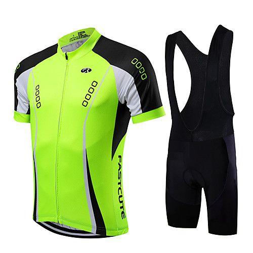 Mens Cycling Short Sleeve Jersey Bib Shorts Suit 2021 Summer Team Bike Uniform