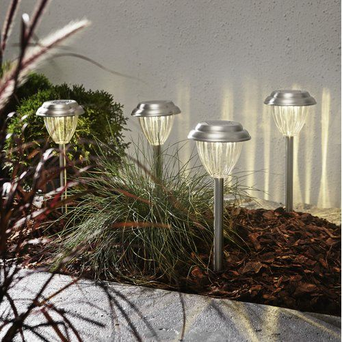 Sol 72 Outdoor Creal Led Pathway Light Set Of 4 Solar Path