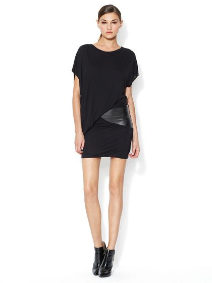 Faux Leather Accent Annika Dress by Young Fabulous & Broke