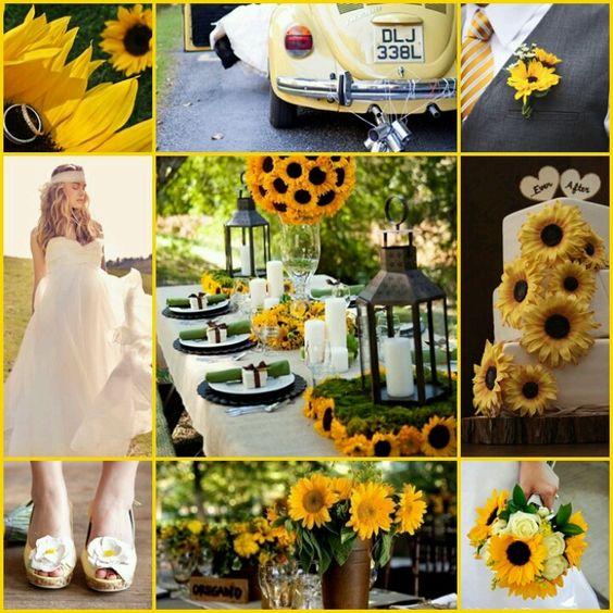 Bodas en amarillo inspiraci n de boda color a amarillo - Mesa de centro rustica ...