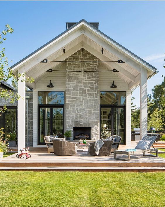 Top 10 Inspiring Home Improvement Ideas For Your Outdoor Space7 House Exterior House New Homes