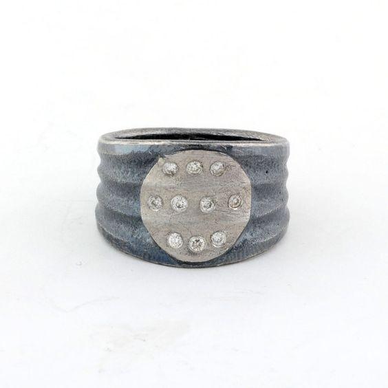 PETER SCHMID - Atelier Zobel, 925/ Silver, Platinum Champagne Color Diamonds VSI 0.10ct $2,026.00