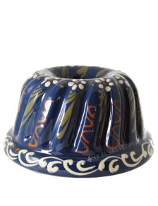 "Grand moule à kougelhopf ""motif 6""- poterie de Soufflenheim, Alsace"