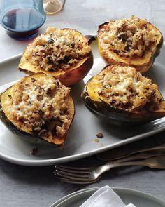 Acorn Squash Stuffed with Mushrooms and Rice - Martha Stewart Recipes