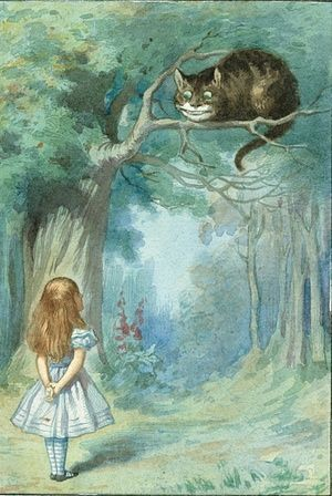 Cheshire cat Illustration: Sir John Tenniel/Alice's Adventures in Wonderland: Illustrations © Macmillan 1911