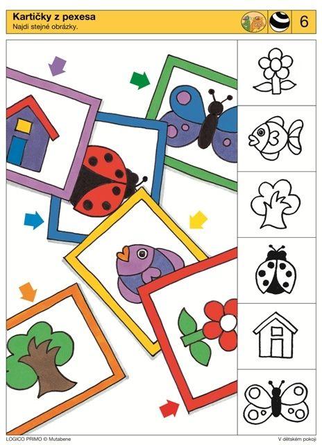 LOGICO PRIMO   Pro děti od 3 let   V dětském pokoji   Didaktické pomůcky a hračky - AMOSEK