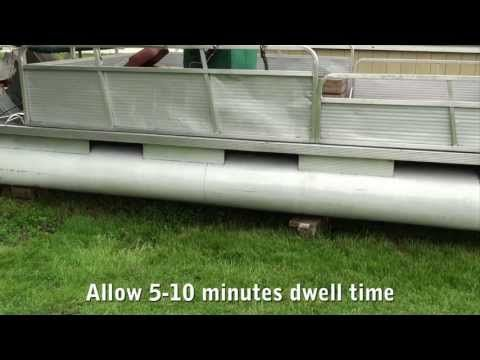 Aluminum Boat Cleaning - Cleaning Pontoons - Clean Aluminum Boat