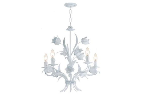 Amour Chandelier, White Mabels bathroom
