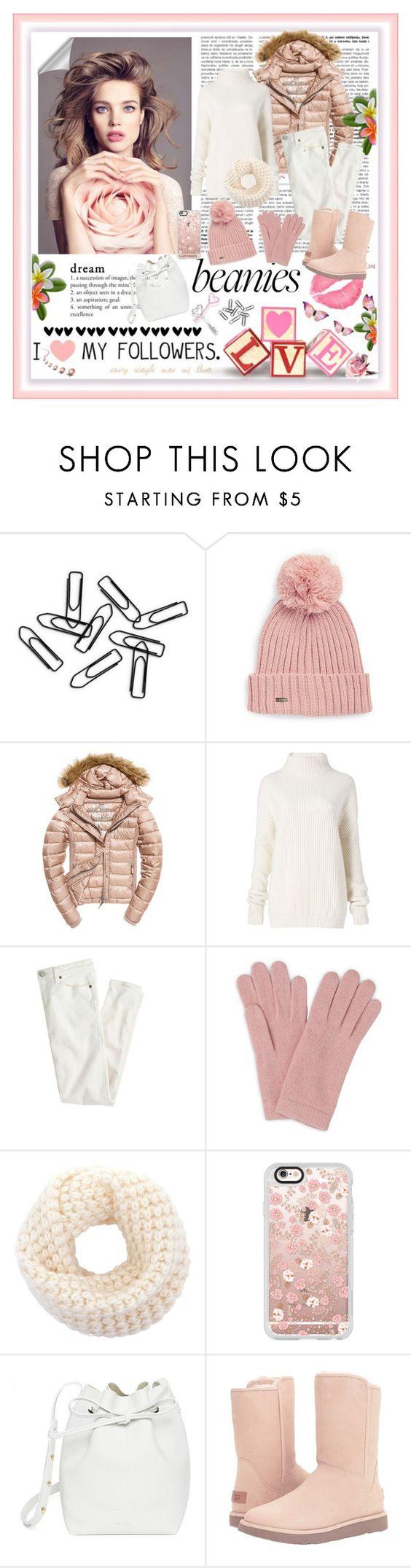 """Beanies...Sweet Pink"" by marina-class ❤ liked on Polyvore featuring Calvin Klein, Fuji, Diane Von Furstenberg, J.Crew, L.K.Bennett, Casetify, Mansur Gavriel, UGG, Pink and beanies"