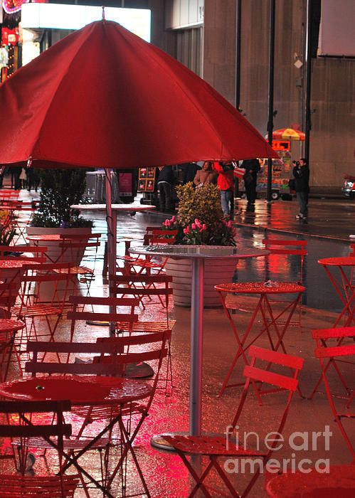 Red Rain (midnight in Times Square, NYC)