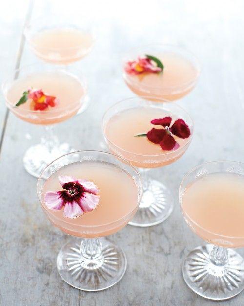 Lillet Rose Spring Cocktail via Martha Stewart