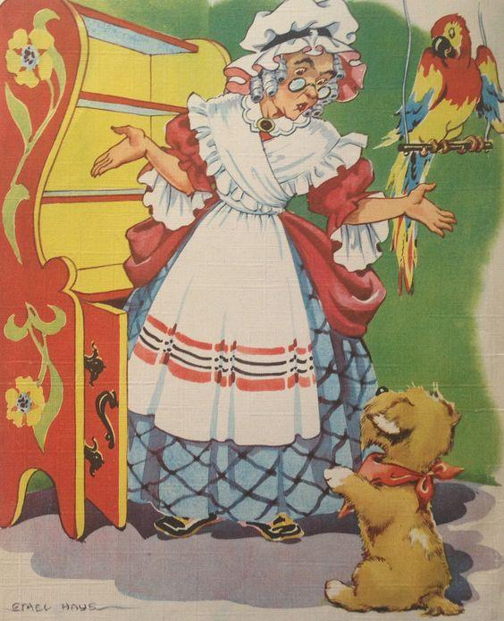 "Vintage ""Old Mother Hubbard"" by Ethel Hays, via Etsy.:"