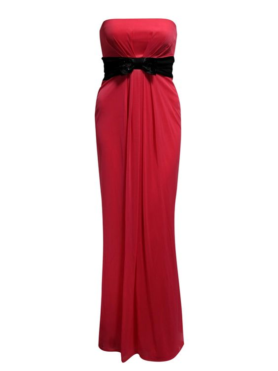 Contrast Bandeau Maxi Dress