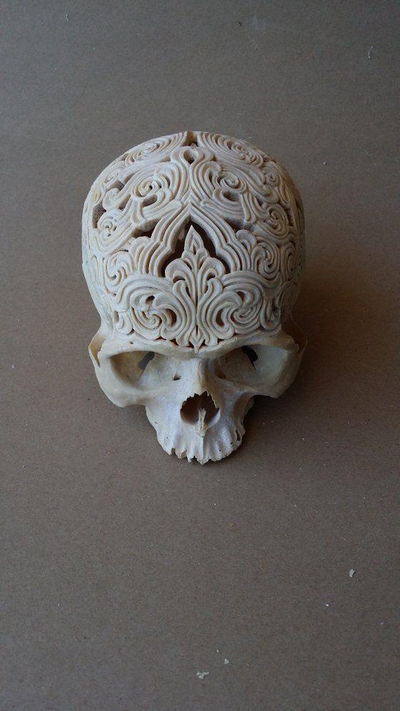 Image Of Carved Human Skull 1 Skull Carving Skull Crafts Skull Art