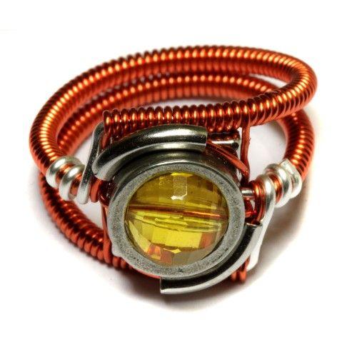 Cyberpunk Jewelry - RING - Orange and Yellow