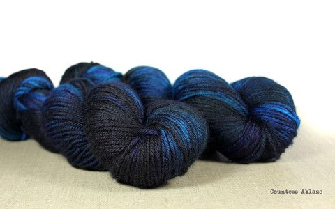 Kettle dyed yarn, Bluefaced Leicester DK weight by Countess Ablaze {this shop contains all the things of wanting. All of the things}