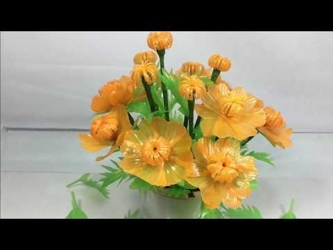 Bunga Kenikir Cantik Dari Sedotan Flowers From Straws Youtube