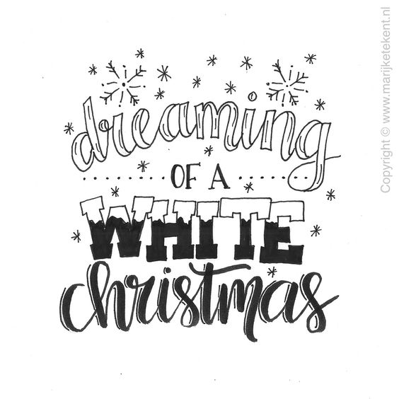 Diy Kerst Tip Handlettering Kerst
