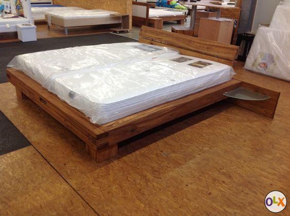 rarit t balkenbett kirschbaum altholz 180x200 cm sankt. Black Bedroom Furniture Sets. Home Design Ideas