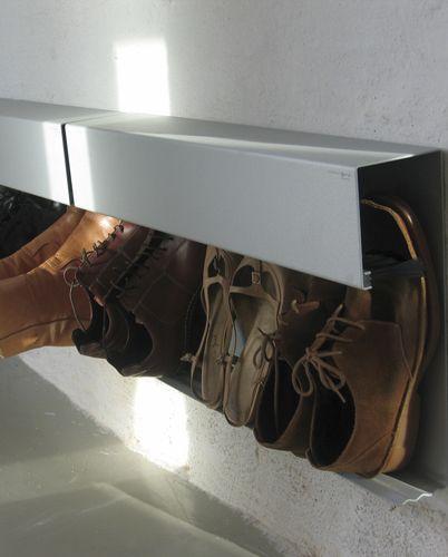 Jesper Holm's shoe rack.:
