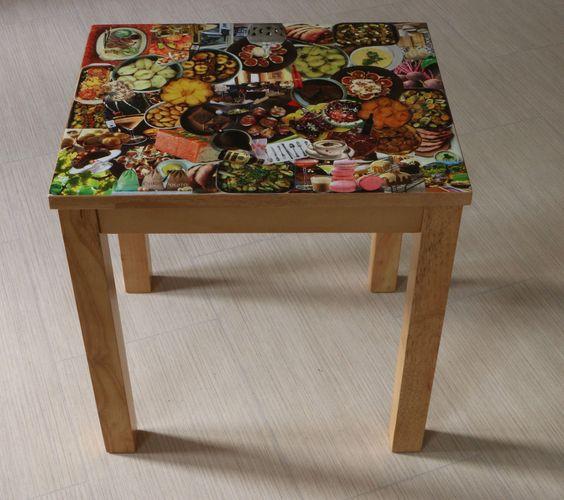 Coffe Table with Original Unique Decoupage Design | eBay