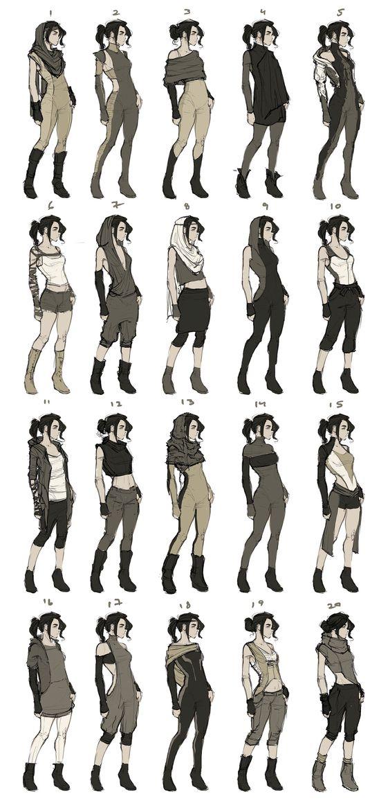 Muito bacana isso. A roupa mais foda é a nº 11 e a Alyne tem um vestido igual ao nº 4.