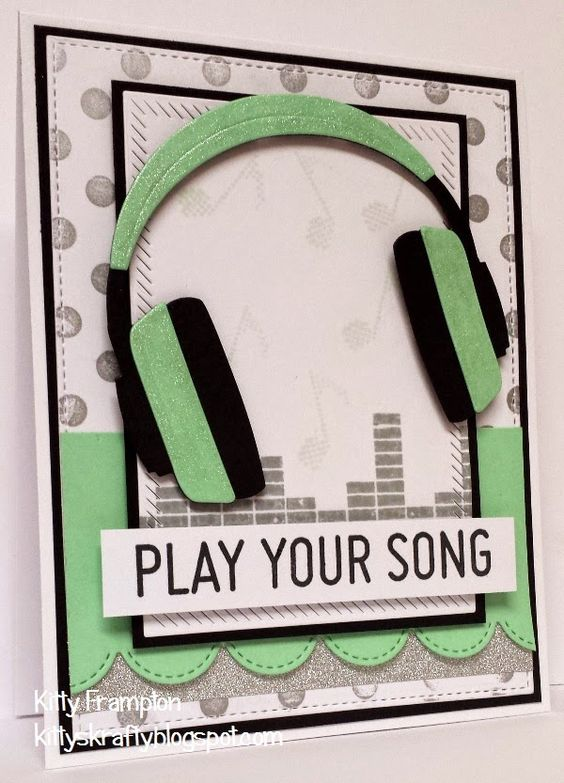 Made using MFT Headphones Die-namics & In The Mix Stamps.