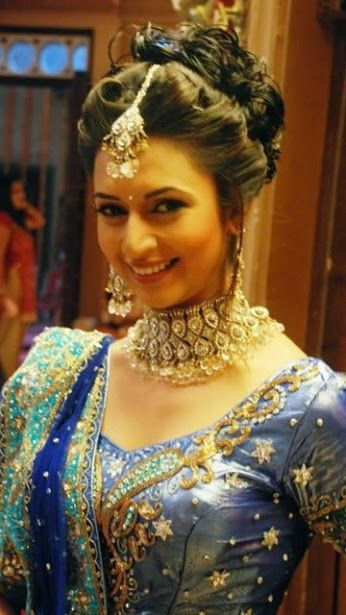 Shagun in yeh hai mohabbatein wedding hairstyles