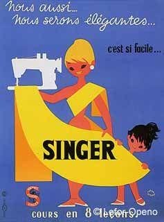 Así nos veíamos hace algunos años… en francés #vintage #Singer #costura