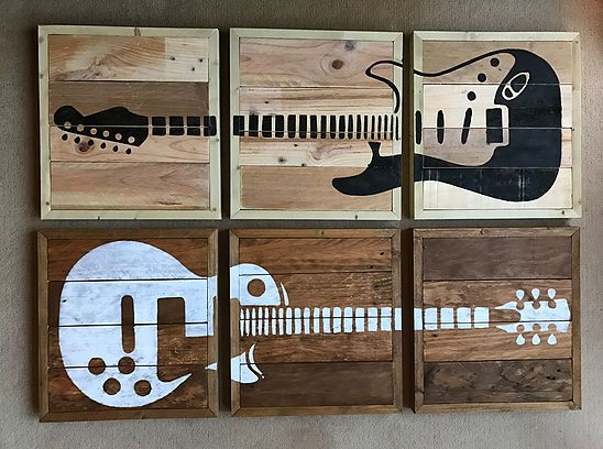 copperfrogdesigns | Guitar Wall Art