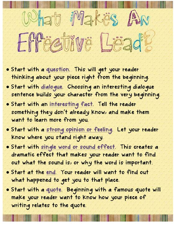 leads in essays