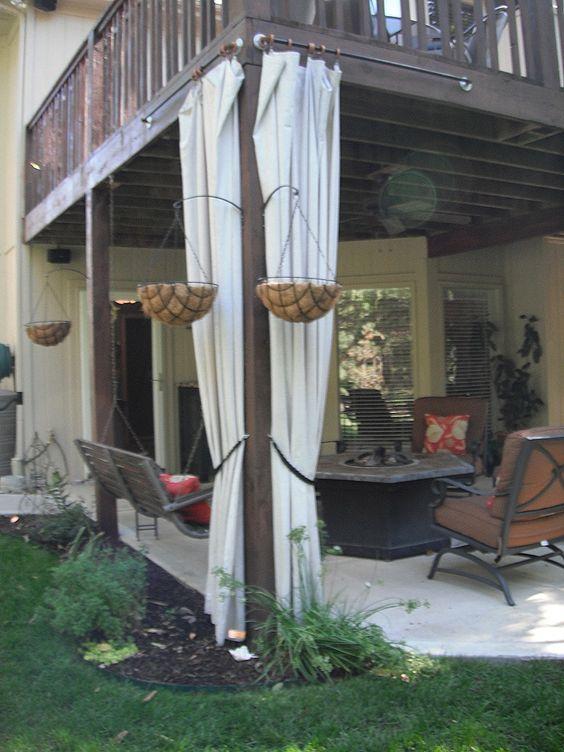 Diy outdoor curtains from drop cloth ck when i get a pergola built