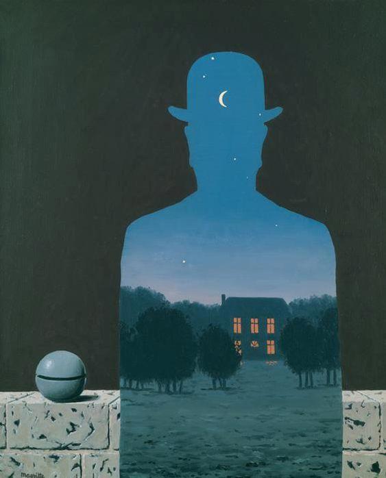 """René Magritte - """"L'heureux donateur"""" - """"il donatore felice"""" (1966)"""