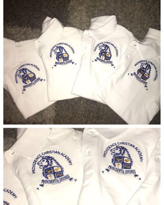 Embroideries School Logo  #embroidery #schoollogo #digitazer #schoolapparel #schoolpoloshirts #cynthiascraftsinvirginia